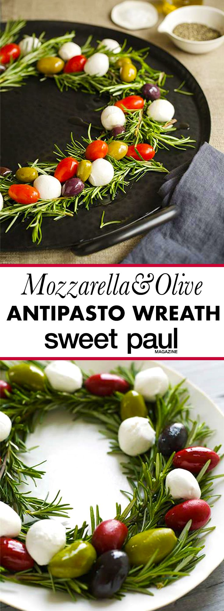 This simple antipasto dish will be the star of your holiday party table!