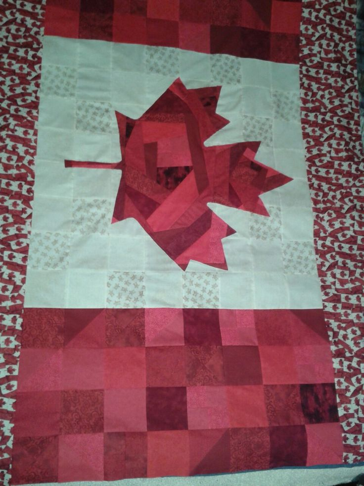 Canadian flag grad quilt, May 2016