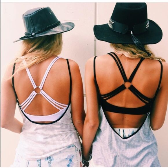 LF back strappy bralette top NWT LF Tops