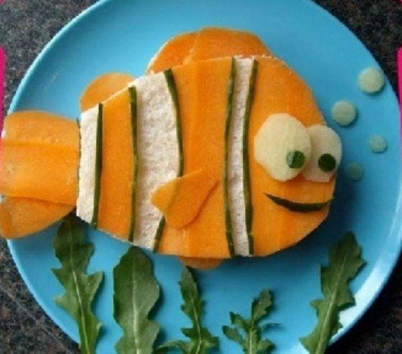 Ricette per bambini: Sandwich con le verdure - Food decoration for the kids