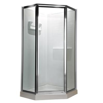 Neo-Angle Door Shower by American Standard, 556.14$ at Home Depot.  17X24X17X72.  The ratings for this were not good... apparently it's hard to install.