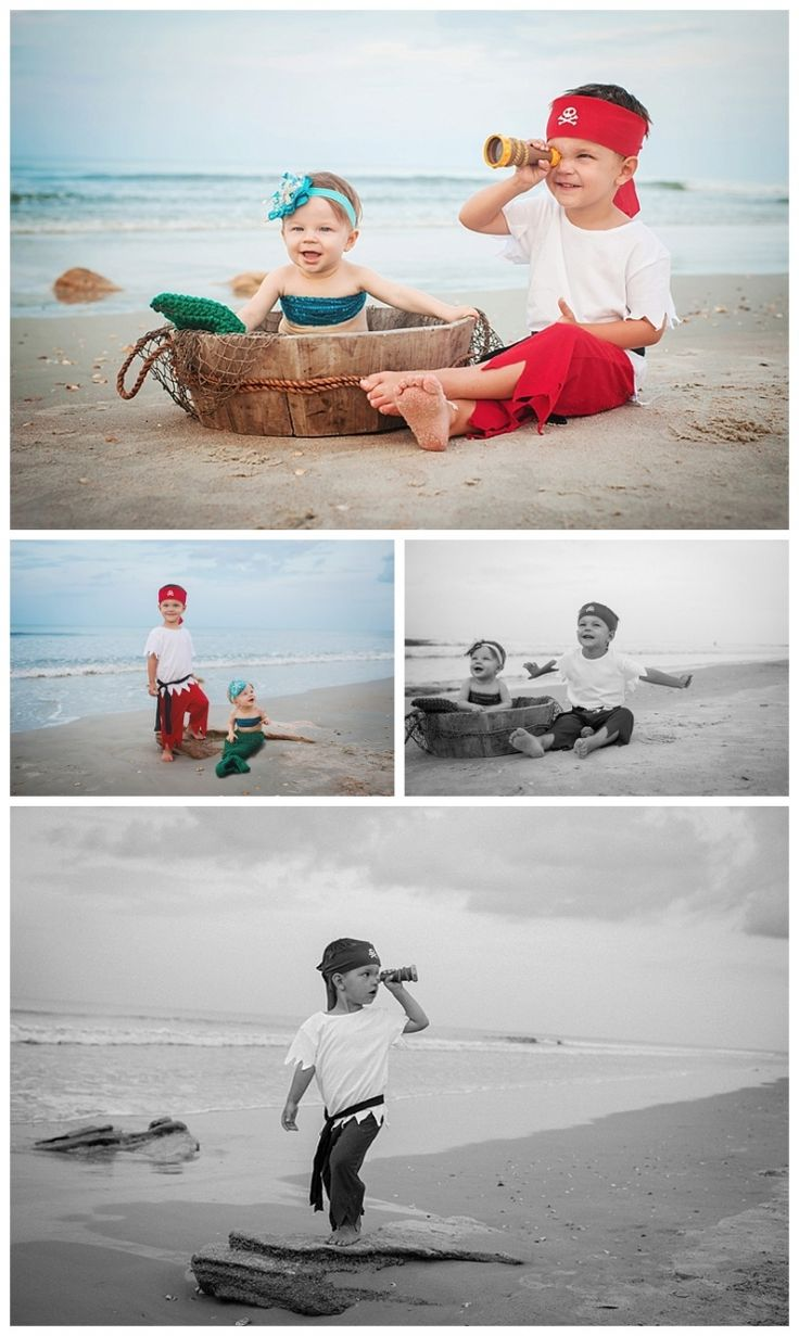 child photography, kid photographer, pirate themed photo session, little mermaid, baby girl http://www.lindseycassidyphotography.com/favorite-moments-of-2014-happy-new-year/
