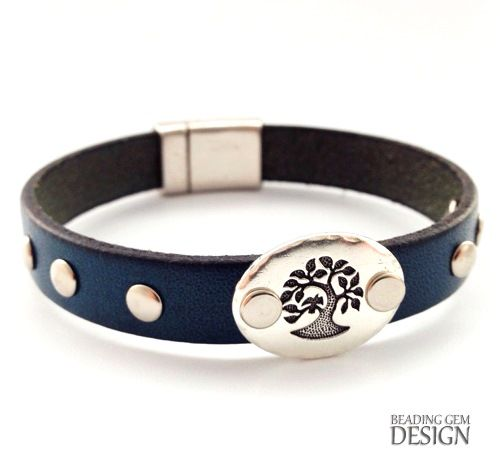 How to Rivet a Leather Bracelet Using Compression Rivets ~ The Beading Gem's Journal