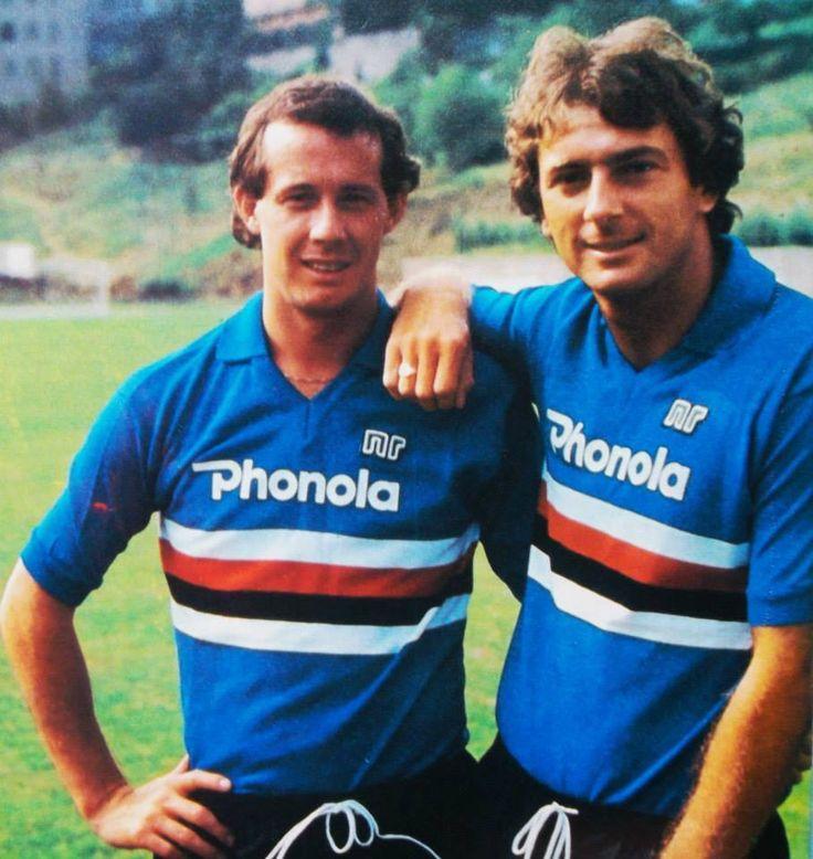 Liam Brady & Trevor Francis - Sampdoria www.classicfootballshirts.co.uk