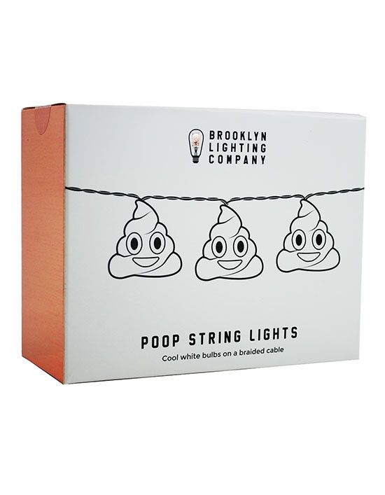 Poop Emoji String Lights ($22):