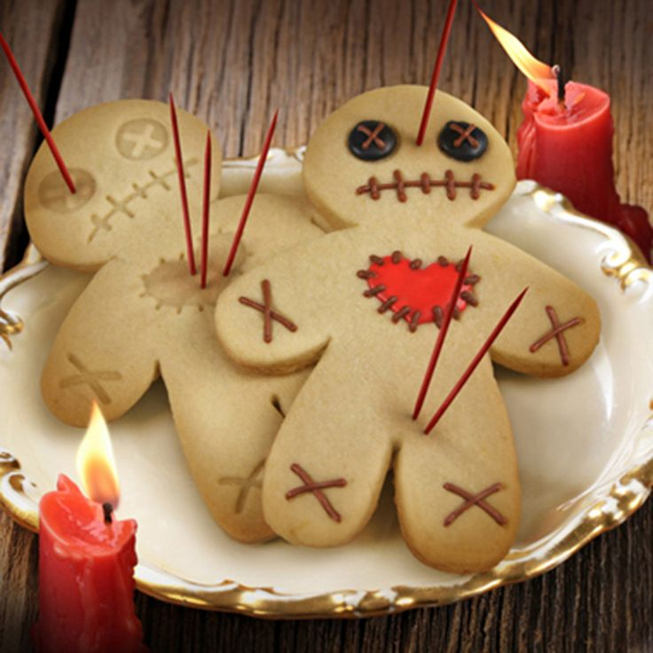 voodoo cookie cutters - Halloween Gingerbread Cookies