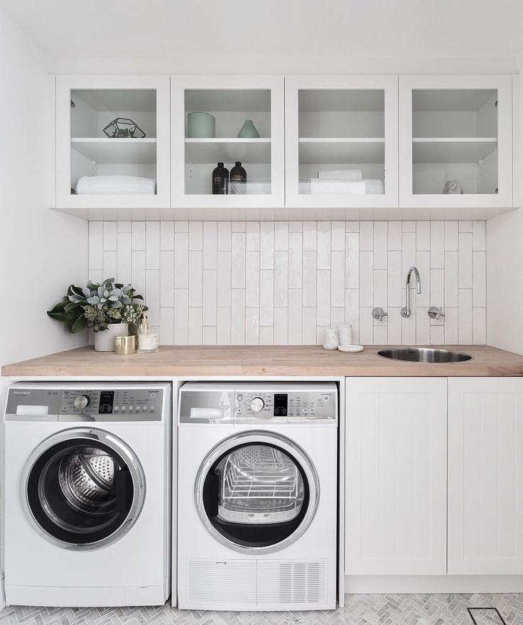"3,856 Likes, 51 Comments - THREE BIRDS RENOVATIONS (@threebirdsrenovations) on Instagram: ""LAUNDRIES One of my favourite spaces to design... This one was tiny, and instead of having a…"""