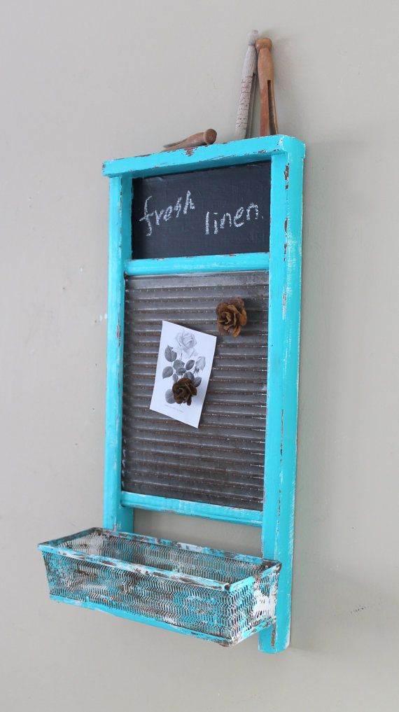 Laundry Washboard Magnetic Boards Memo Board by TheVintageStories