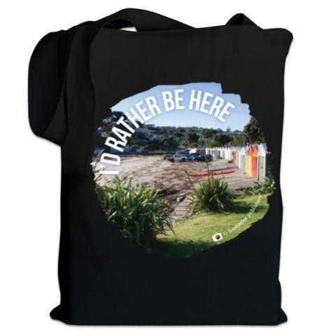 NZ Canvas Bag - I'D Rather Be Here - Titahi Bay Beach Photo