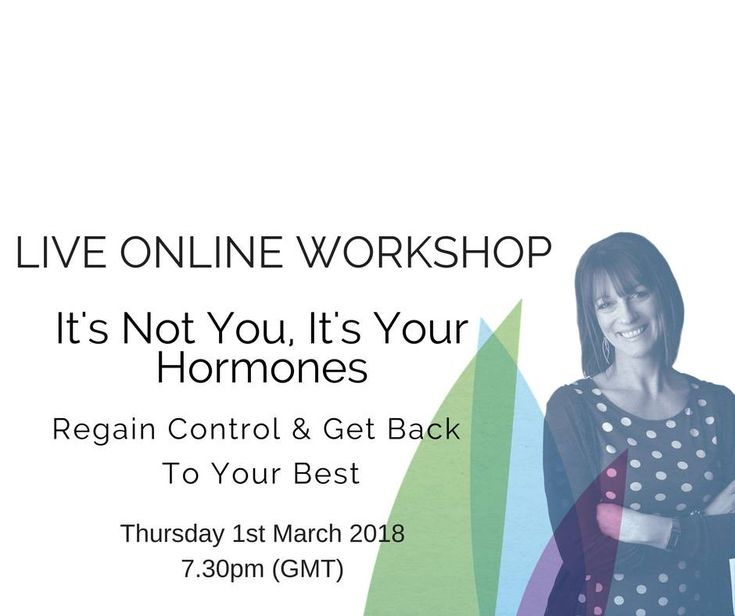 Join me for a FREE, live, online hormone workshop on Thursday, 1st March. You'll get a FREE interactive workbook which we'll work through so you have an action plan for your hormones to take away with you!