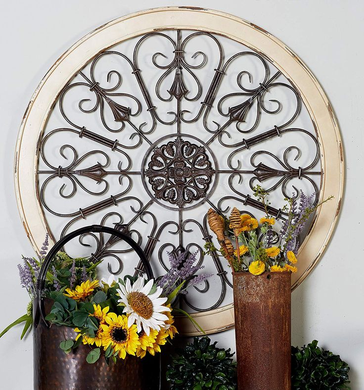 Deco 79 metal wood wall panel 36inch ad afflink