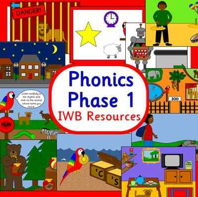 Letters and Sounds Phonics Phase 1IWB resourcesA CD packed withgreat activities to use on an Interactive Whiteboard or on the computer Lots of