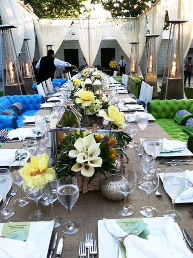 48 best images about gedekte tafels on pinterest outdoor for Outdoor dinner party decorating ideas