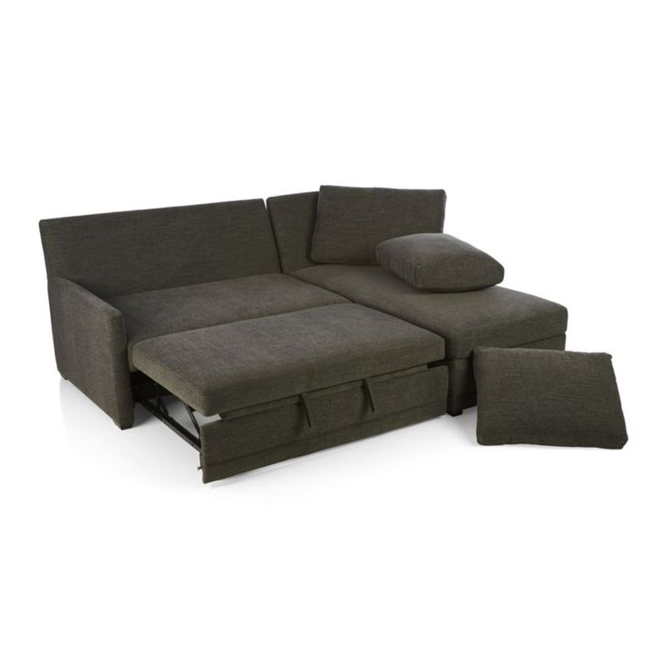 reston 2 piece sleeper sectional sofa crate and barrel
