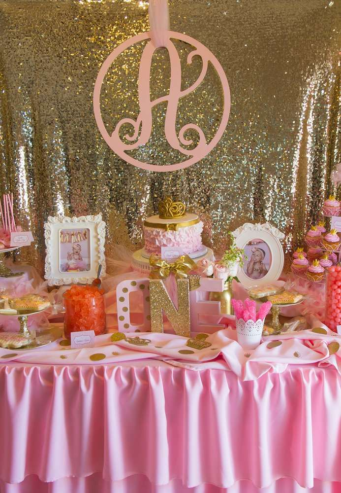104 best Pink and Gold Princess Birthday Party images on Pinterest