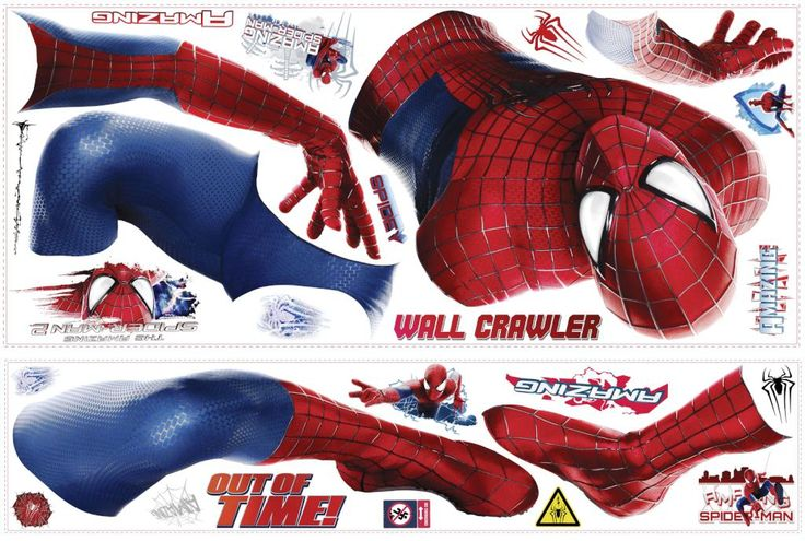 He is The Amazing Spiderman! Superhero Spiderman wall decals for kids' room nursery especially boys are easy to peel and stick as wonderful room background