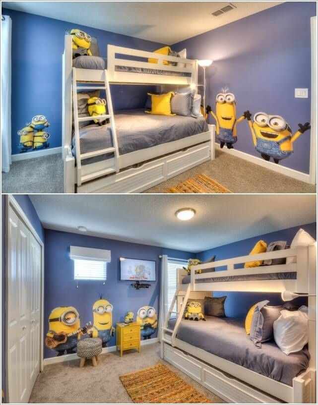 10 Cute And Cool Minions Kids Room Ideas 1