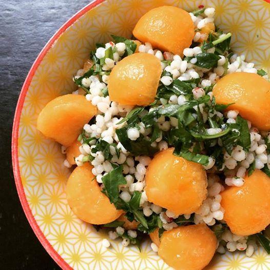 CosebuonediAle: Happy diet: sorgo con rucola e cantalupo