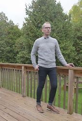 Carl Campion - Banana Republic Br Sweater, Topman Skinny Jeans, Steve Madden Shoes - Ready for the Canadian Thanksgiving weekend