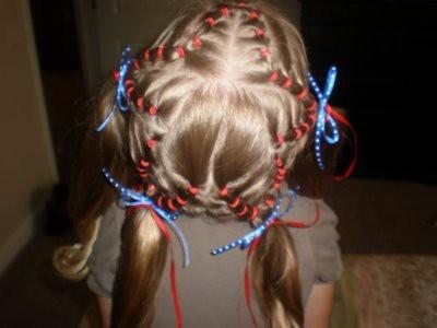 4th of July: Hair Ideas, Little Girls Hairdos, Girls Generation, Little Girls Hairstyles, Stars, Angel Cards, 4Th Of July, Hair Style, Great Ideas