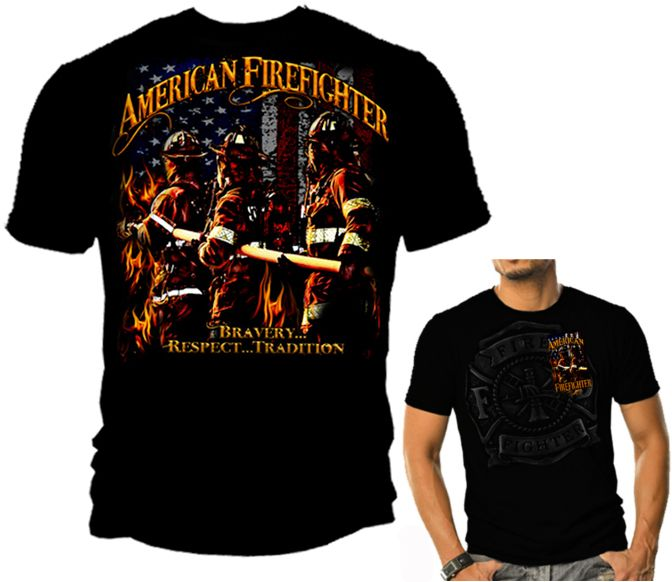 Firefighter T-Shirt For My Man :) He would LOVE this!!