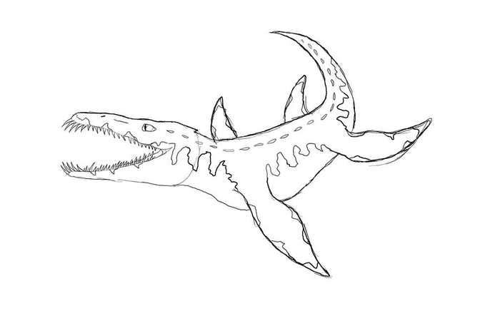 Liopleurodon Dinosaur Coloring Page Dinosaur Coloring Pages