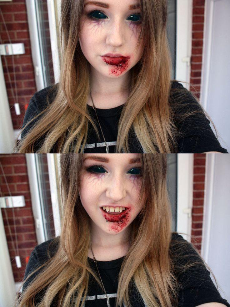 Vampire make up by =natmorley on deviantART