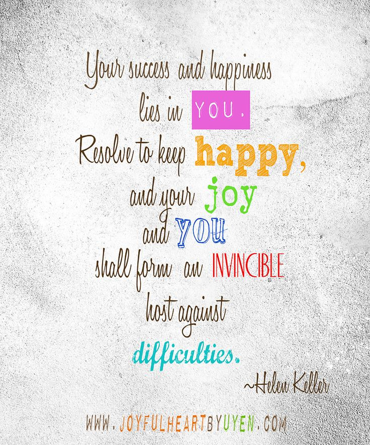 Quotes For Success And Happiness: Helen Keller Quote