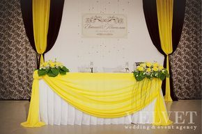 Классическая черно-желтая свадьба Евгения и Татьяны