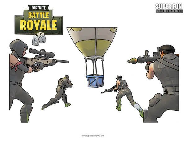 Fortnite Victory Royale Coloring Pages Design