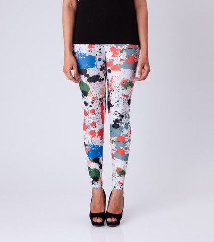 Colour Splash Leggings By ESL. Price: Rs. 350.00 Visit: http://bit.ly/1MEmoG6