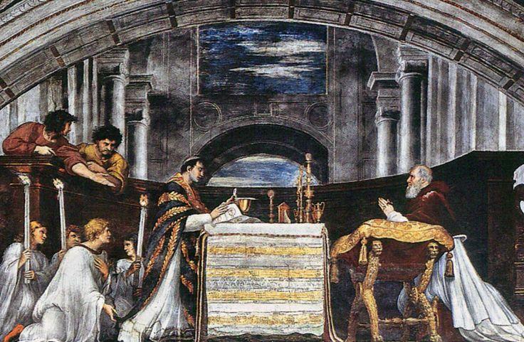 La Misa de Bolsena Pintor: Rafael Museo del Vaticano