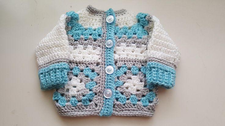 Newborn Sweater. Infant cardigan. Baby shower gift. Baby boy cardigan. Newborn jacket. Baby Jacket. Sweater for baby. Baby outfit. Baby top. by CrochetByStarlight4U on Etsy #babyboyjackets #babyjackets