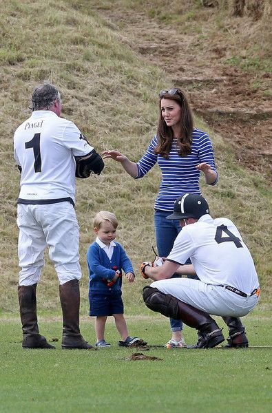 Prince George Photos - The Duke of Cambridge and Prince Harry Play in Gigaset Charity Polo Match - Zimbio