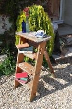 Vintage Pine Small Step Ladders, Quirky Shelving Shabby Chic Rustic Shop Prop