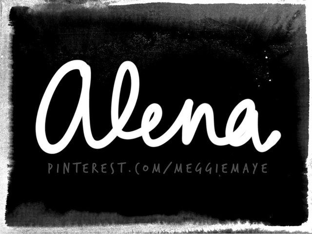 Baby girl's name Alena. This is a very popular German, Czech, Slovak, Slovene short form of MAGDALENA or HELENA. It has varying pronunciations.