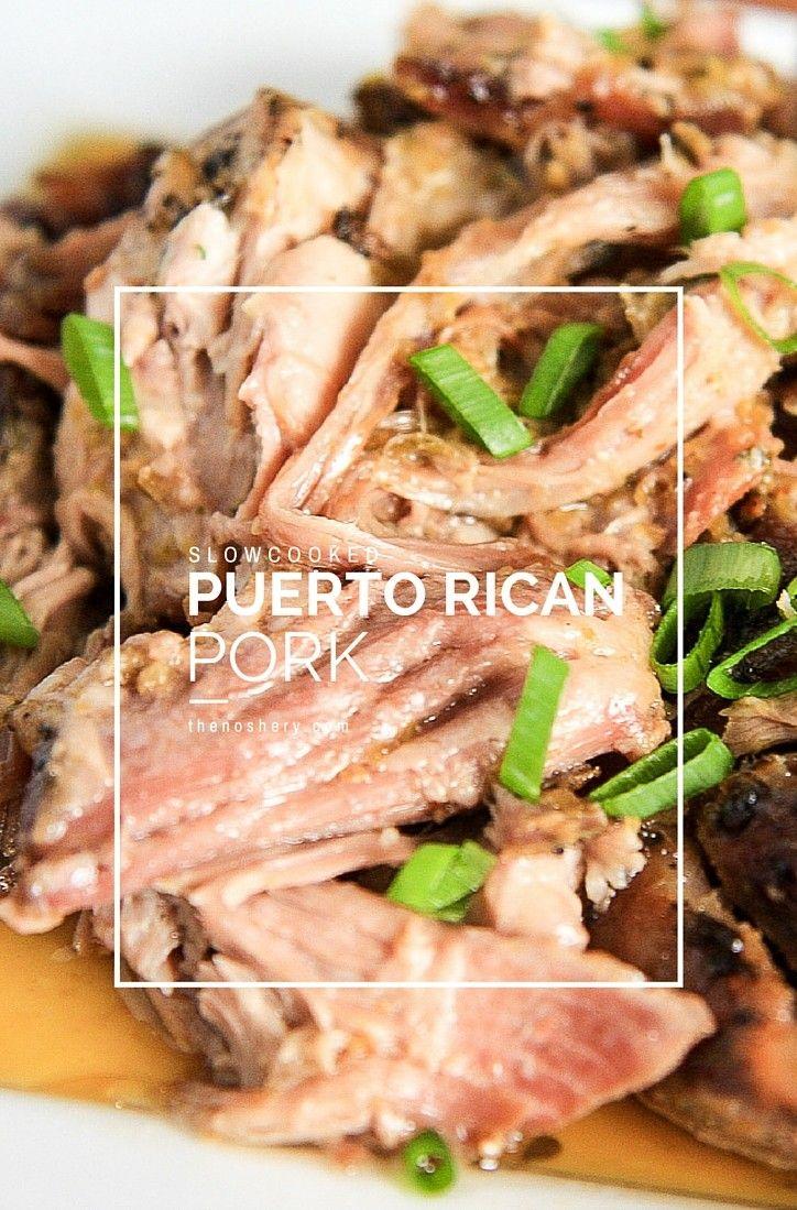 Slow Cooked Puerto Rican Pork (Pernil) | TheNoshery.com