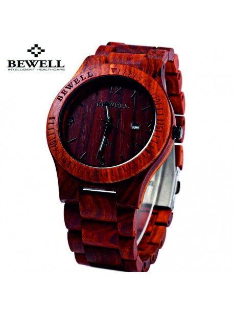 Dřevěné náramkové hodinky červené-BEWELL Kód:  DH00004-RED SANDALWOOD** BEWELL Stav:  Nový produkt  Dostupnost:  Skladem   Elegantní dřevěné hodinky s jedinečným designem. Dárek vhodný pro muže i ženu. Hodinky jsou vyrobeny z přírodních materiálů bez umělých barviv.