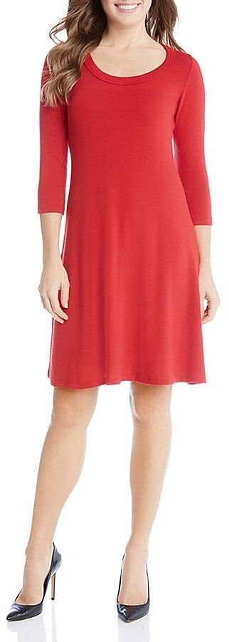 Karen Kane Three Quarter Sleeve Dress