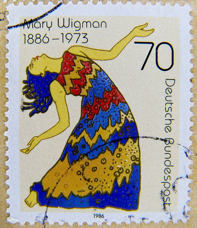 great stamp Germany 70 pf portrait Mary Wigman 1886-1973 (dancer, choregrapher, pioneer of expressionist dance)