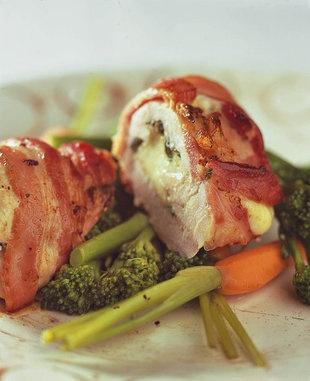 Hoenderborsies gevul met pesto en mozzarella    SARIE   Chicken breasts filled with pesto an mozzeralla #healthy