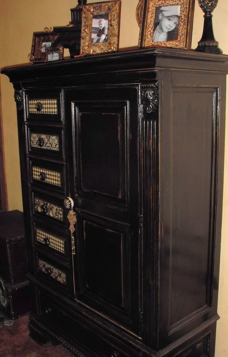 Painting furniture black distressed - Find This Pin And More On Painting Furniture Painting Home Painted Black Distressed