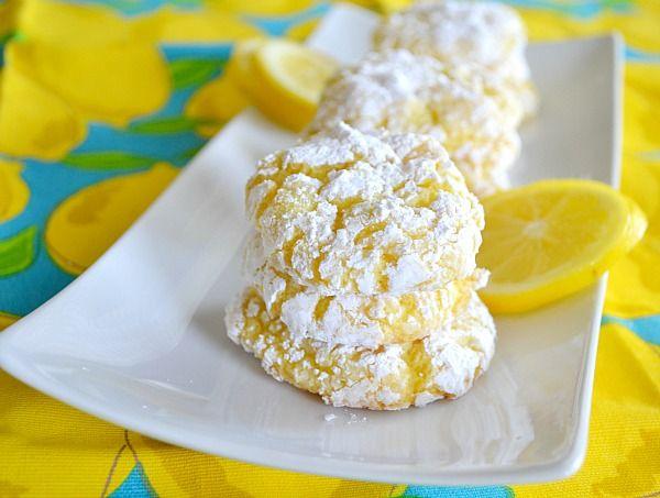 Low Calorie Box Cake Mix Recipes: 1000+ Ideas About Lemon Crinkle Cookies On Pinterest