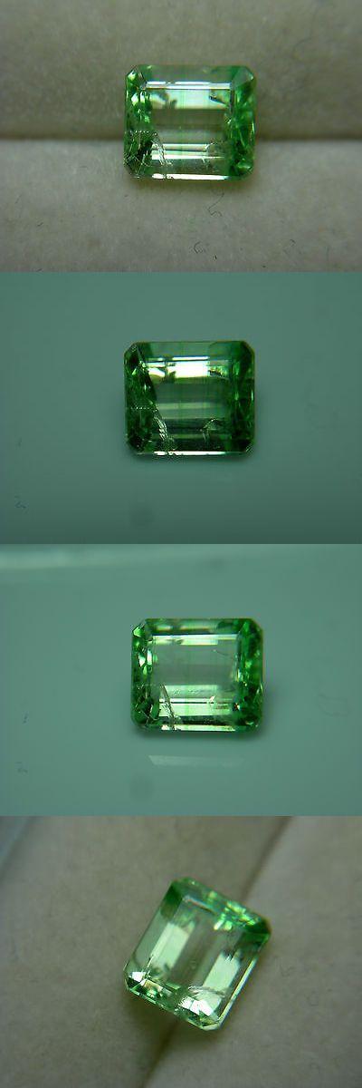 Tsavorite 110809: Rare Tsavorite Leuco Bi-Color Colorless Green Garnet Gem Grossular Fluorescent Z -> BUY IT NOW ONLY: $254.99 on eBay!