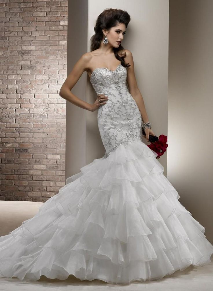 Bling Mermaid Wedding Dresses