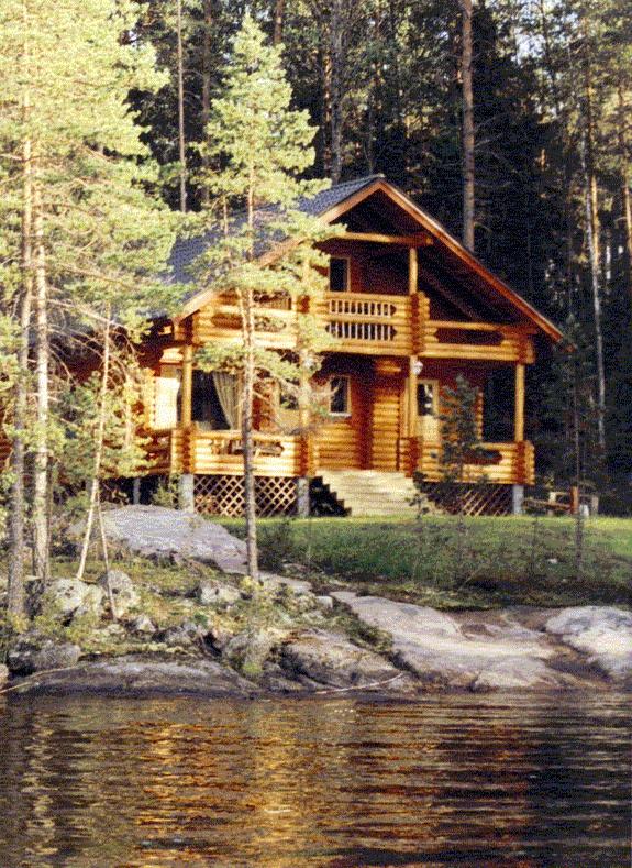 Modern summer cottage in Finland.
