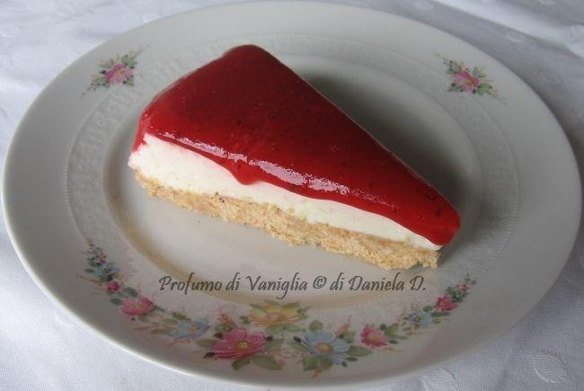 Finta cheesecake alle fragole