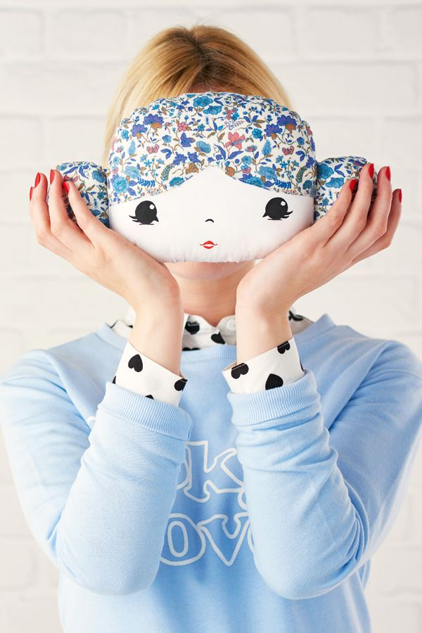 Hello, Petal! Doll face cushion sewing pattern for girls