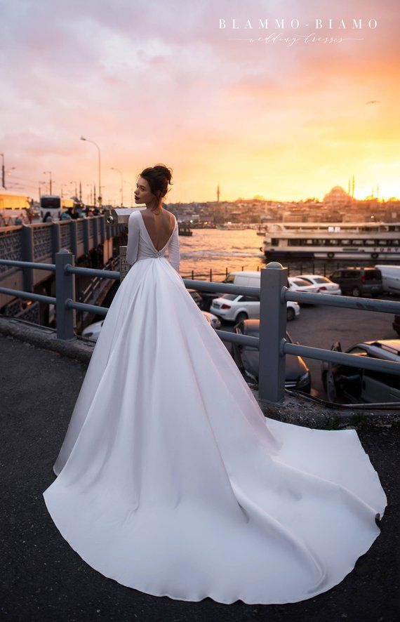 7f912ff12d2c Wedding dress TILDA by Blammo-Biamo with long sleeves • Royal wedding dress  • Wedding dress with lo