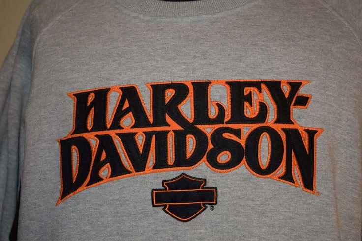 Harley-Davidson Motorcycles Large Sweatshirt Embroidered Mancuso Houston Texas